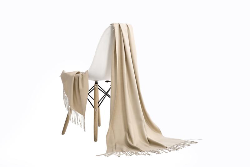 Emilie Scarves Pashmina sjaal Cashmere omslagdoek beige - 200*63CM