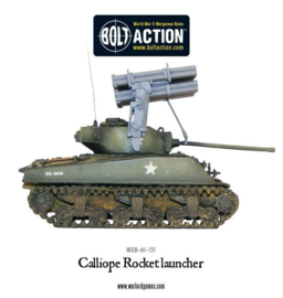 Calliope multiple rocket launcher