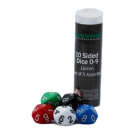 Blackfire Dice - 16mm D10 (5 stuks)