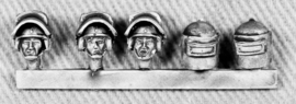Russian Heads with Armoured Helmets (RUS13)