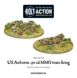US Airborne 30 Cal MMG team firing