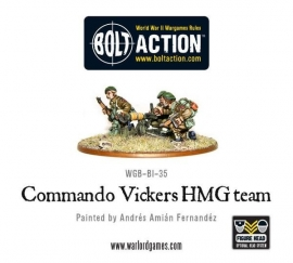 British Commando Vickers MMG Team
