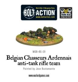 Belgian Chasseurs Ardennais anti-tank rifle team
