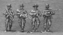 US Marines with Boonie Hats Patrolling (USMC1B)