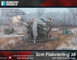 2cm Flakvierling 38 with SdAh 51/52 Trailer & Crew