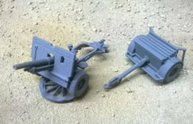 25 Pdr QF with & without Muzzle Brake - 1/48 Scale