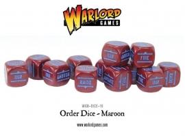 Order Dice - Maroon