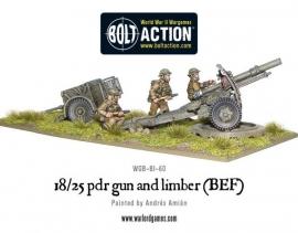18/25pdr Gun and Limber (BEF)