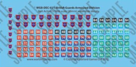 British Guards Armoured Division decal sheet