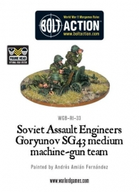 Soviet Assault Engineers SG43 MMG team