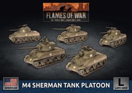 M4 Sherman Tank Platoon 75mm/76mm (Plastic)