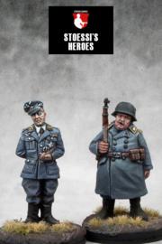 German Kommandant Oberst Wilhelm Klink & Oberfeldwebel Hans Georg Schultz