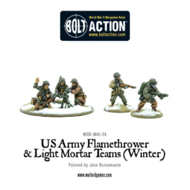 US Army Flamethrower & Light Mortar teams (Winter)