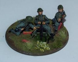 Dutch Army Schwarzlose  MMG and Crew