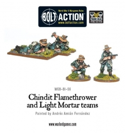 Chindit Flamethrower and Light Mortar teams