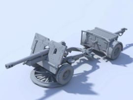 25 Pdr QF with & without Muzzle Brake - 1/56 Scale