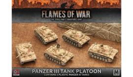Panzer III Tank Platoon (Plastic)