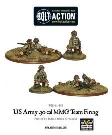 US Army 30 Cal MMG team firing