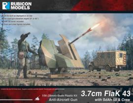 3.7cm FlaK 43 with SdAh 58 Trailer & Crew