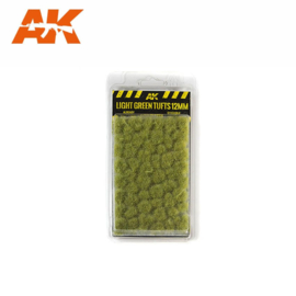 LIGHT GREEN TUFTS 12mm
