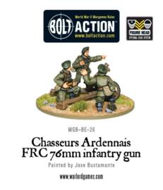 Belgian Chasseurs Ardennais FRC 76mm infantry gun