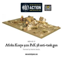 Afrika Korps 5cm PaK 38 anti-tank gun