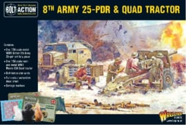 8th army 25 pdr & Quad tracktor