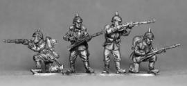 German Riflemen Firing/Loading (GER02)