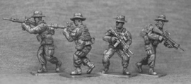 US Marines with Boonie Hats Advancing (USMC2B)