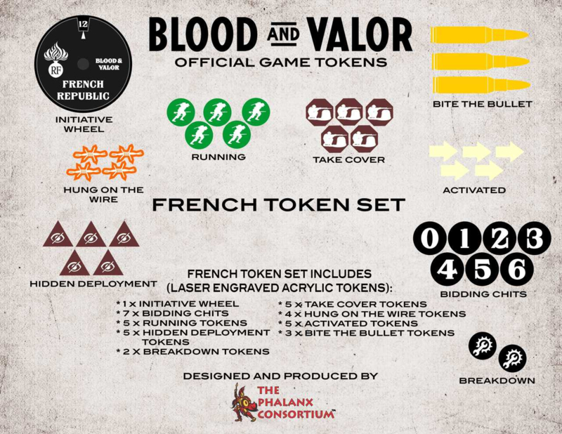 PRE ORDER: Blood and Valor French Token Set