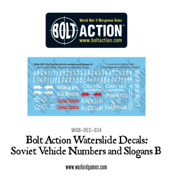 Soviet slogans and numbers B decals