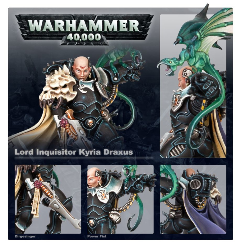 PRE ORDER: Ordo Xenos Lord Inquisitor Kyria Draxus