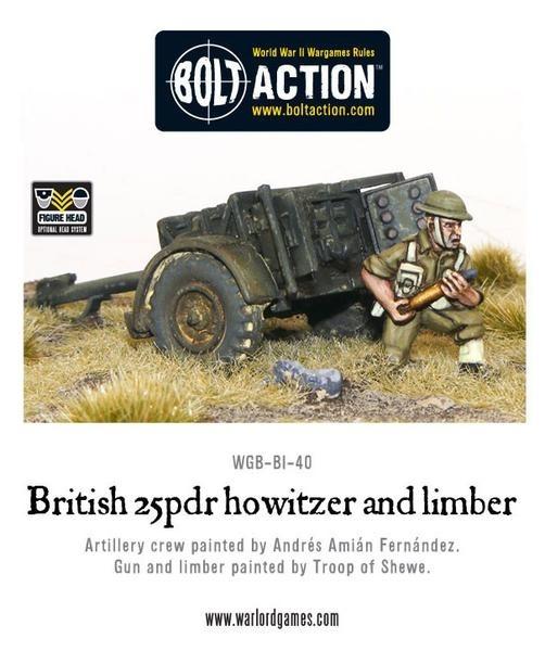 British 25 pdr Howitzer & Limber