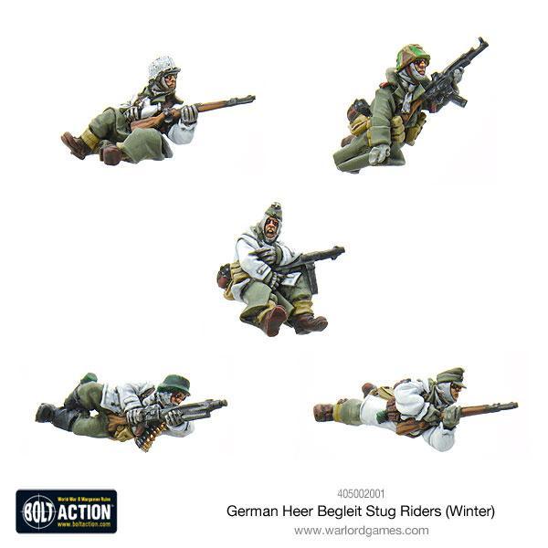 German Heer Begleit Stug riders (Winter) + StuG