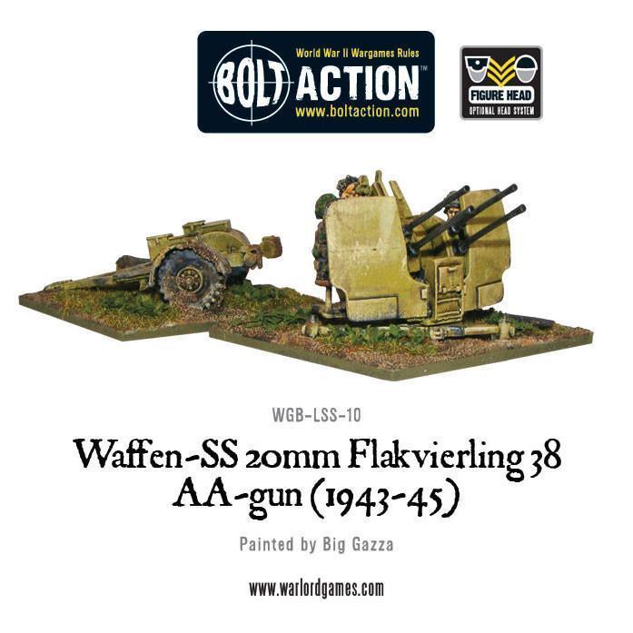 Waffen-SS 20mm Flakvierling 38 AA-gun (1943-45)