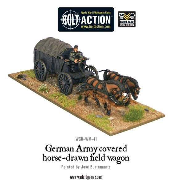 German Army Hf2 horsedrawn covered field wagon