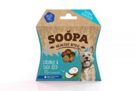 Soopa bites kokosnoot & chiazaad, 50gram