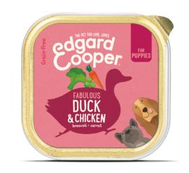 Edgard & Cooper kuipje puppy eend en kip, 150gram
