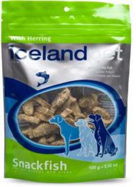 Icelandpet vissnack met haring, 100gram