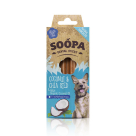 Soopa sticks kokosnoot & chiazaad, 4stuks
