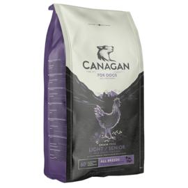 Canagan vrije uitloop kip light/senior, 2kg