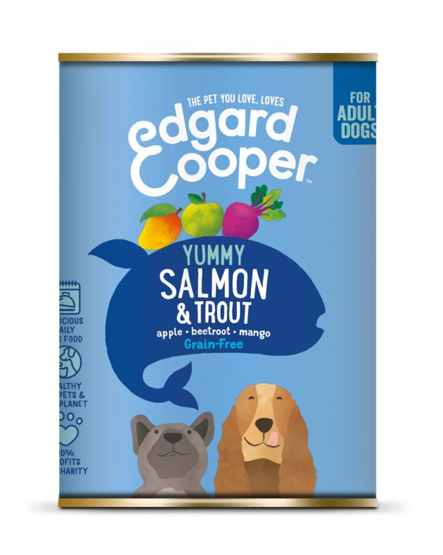 Edgard & Cooper blik zalm en forel, 400gram