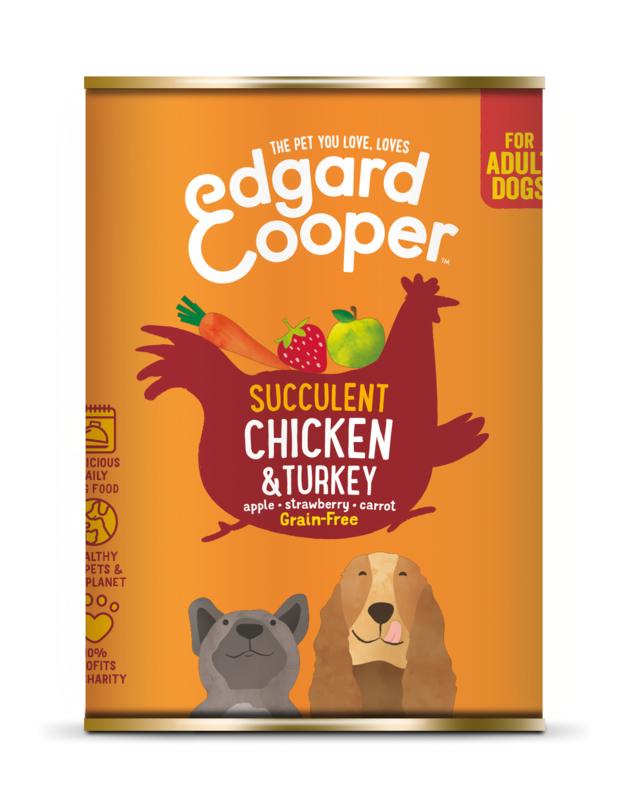Edgard & Cooper blik kip en kalkoen, 400gram