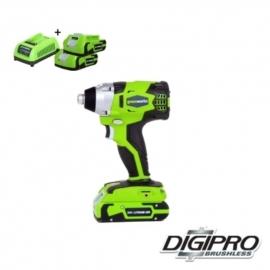 24 Volt Accu Slag- schroefmachine van Greenworks GD24IDK2X