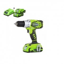 24 Volt accu schroef-klopboormachine van Greenworks G24CDK2X