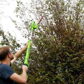 40 Volt Accu Takkenzaag-Heggenschaar van Greenworks G40PSH