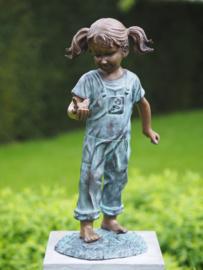 AN0817BR-BI - Meisje met vogel in de hand