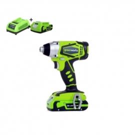24 Volt Accu Slag- schroefmachine van Greenworks G24IDK2