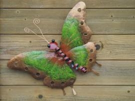 Vlinder in metaal klein