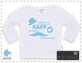 Shirt geboortegegevens Jongen
